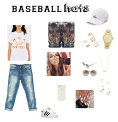 """""""Untitled #133"""" by ysanchez-1 ❤ liked on Polyvore featuring adidas, Sans Souci, Michael Kors, Kendra Scott, Lipsy, Forever 21, Christian Dior, Kate Spade, baseballcap and baseballhats"""