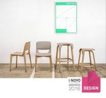 Bar stool / contemporary / bentwood / solid wood