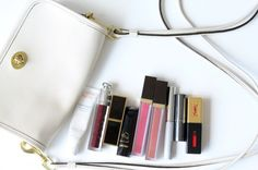Lip goodies, via Into the Gloss. Putting that Avene balm on my buy list. My lips are SO dry. Tom Ford Black Orchid, Whats In Your Purse, Cheap Coach, Dior Addict, Lip Stain, Glossy Lips, Clinique, Shopping, Purses