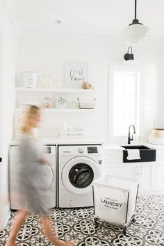 Over 40 different creative laundry room ideas, cabinet, designs and hacks to help make your laundry adventures a little more pleasant and functional. managing to fit everything you need in a small laundry room. Mudroom Laundry Room, Small Laundry Rooms, Laundry Room Design, Laundry Hamper, Laundry Room Inspiration, White Shiplap, Small Furniture, Ship Lap Walls, White Rooms
