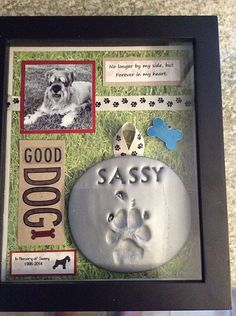 Shadow box in memory of my Sassy Girl. Schnauzers are the best dogs. - Shadow box in memory of my Sassy Girl. Schnauzers are the best dogs. Dog Shadow Box, Game Mode, Pet Remembrance, Dog Memorial, Memorial Ideas, Memorial Quotes, Memorial Tattoos, Dog Crafts, Pet Craft