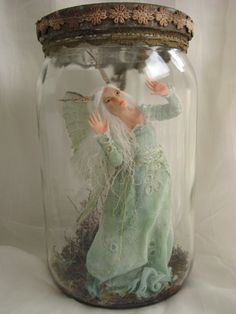 FAIRY CAUGHT IN JAR WOULD MAKE AN AMAZINGLY EPIC HALLOWEEN COSTUME!!!-SE19 Captured Fairy by ~Nenufar-Blanco