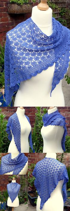 Mediterranean Lace Shawl - Free Crochet Pattern from Make My Day Creative