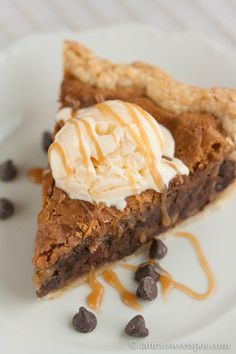 Tuscaloosa Tollhouse Pie - has the flavor of a chocolate chip cookie, but with the texture of pecan pie - ooey and gooey...