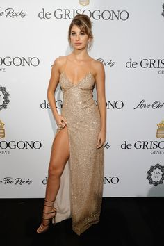 Picture of Camila Morrone Classy Prom Dresses, Backless Prom Dresses, Grad Dresses, Classy Dress, Ball Dresses, Dance Dresses, Cute Dresses, Strapless Dress Formal, Beautiful Dresses