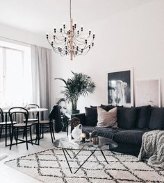 Find images and videos about interior on We Heart It - the app to get lost in what you love. Home Living Room, Living Spaces, Apartment Makeover, Apartment Ideas, Couple Room, Living Room Inspiration, Family Room, House Design, Interior Design