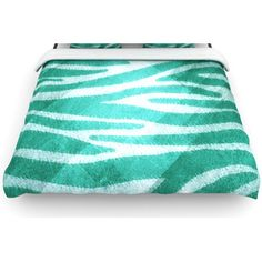 "KESS InHouse ""Zebra Texture"" Woven Comforter Duvet Cover - Color: Blue, Size: Full/Queen"