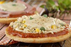 Pizzas brotinho de creme e frango