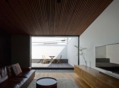 Japanese Surfer Built A Beautifully Minimal Home In Kanagawa - Airows Minimal Home, House Design, Contemporary House, Japanese House, Interior Architecture Design, Living Room Ceiling, Interior Spaces, Home Decor, House Interior