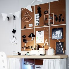 Aller guten Dinge sind sechs. #Pinnwand #Schreibtisch #VÄGGIS #meinIKEA