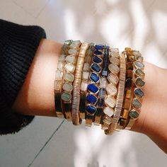 Judith Bright Jewelry signature arm-stacks