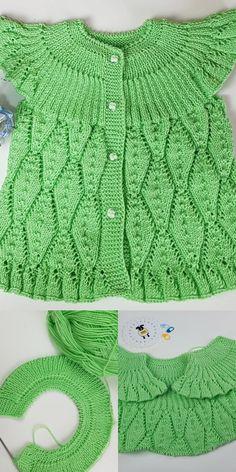 Nadel-Blatt-Webart-Baby-Weste-Modellherstellung – Yeni Hobi – Join the world of pin Knitting For Kids, Crochet For Kids, Hand Knitting, Knit Crochet, Afghan Crochet Patterns, Baby Knitting Patterns, Fall Outfits, Kids Outfits, Cardigan Bebe