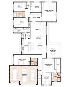 5 Bdrm House Plans Best Of Floor Plan Friday 5 Bedrooms 3 Bathrooms 3 Car Garage 5 Bedroom House Plans, Garage House Plans, New House Plans, Family House Plans, Dream House Plans, Modern House Plans, Car Garage, Tandem Garage, The Plan