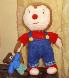 du tricot et des jouets: MODELE T'CHOUPI Knitting Dolls Free Patterns, Knitted Dolls Free, Knitting Stitches, Crochet Dolls, Knitting Toys, Christmas Knitting, Models, Wool Yarn, Knitting Projects