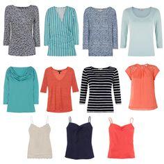 Choosing tops for the Spring Capsule Wardrobe