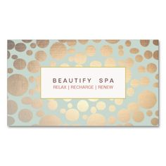 Chic Beauty Salon and Spa FAUX Gold Pattern Business Cards. This is a fully customizable business card and available on several paper types for your needs. You can upload your own image or use the image as is. Just click this template to get started!