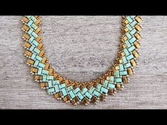 REMAKE Half a Tila Necklace Tutorial - ilikes. Diy Jewelry Necklace, Gold Bar Necklace, Circle Necklace, Leaf Necklace, Beaded Jewelry, Beaded Bracelets, Tutorial Colar, Necklace Tutorial, Diy Tutorial