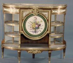 Cabinet - Martin Carlin (French, near Freiburg im Breisgau ca. 1730–1785 Paris) : Porcelain plaques by Sèvres Manufactory