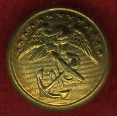 Civil War era MARINE CORPS uniform button WATERBURY b/m