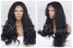 "Fashion Wavy hair !!!top quality 100% Brazilian virgin full lace wig human hair 12""-24""inch in stock Free&Fast Shipping"