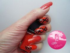 Bright Orange Nails #redmani #illamasqua #polish #nailart - bellashoot.com & bellashoot iPhone & iPad app