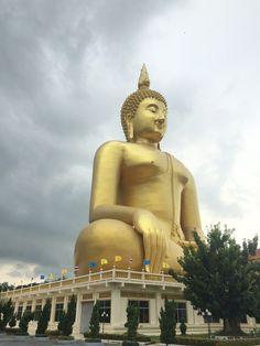 Wat Muang, Ban Phai Cham Sin, Thailand — by Skhonpol Guy. Pimalyn The biggest buddha of world
