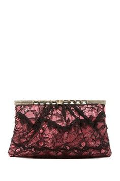 Valentino Lace Framed Clutch