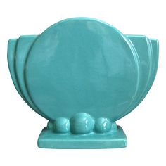 Haeger Pottery Art Deco Pillow Vase, Circa 1940 from The Devil Duck Collection Exclusively on Ruby Lane