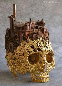 As intrincadas e detalhadas esculturas de caveiras de Alain Bellino