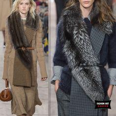 пальто с большим мехом