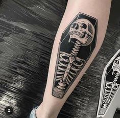 halloween tattoos Badass Leg Tattoos for Men and Women Black Ink Tattoos, Skull Tattoos, Body Art Tattoos, Sleeve Tattoos, Black Work Tattoo, Tattoo Art, Badass Tattoos, Cool Tattoos, Creative Tattoos