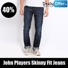 John Players Men Blue Skinny Fit Jeans @ 40% Off