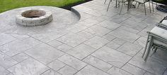 Stamped Concrete | Faux Tile Patio