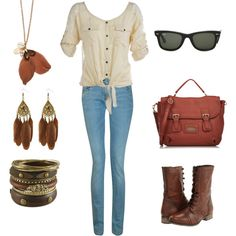 Looking towards Fall, created on Polyvore