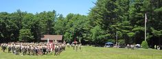 Week 1 Dress Parade at Tim O'Neil Field on the Orange Trail at #Yawgoog.  A July 7, 2014, image by David R. Brierley.  Facebook cover photo.