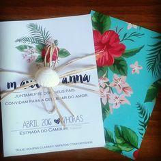 Convite praia tropical | Idéias das Marias | Elo7