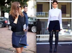 mini faldas asimétricas por christine centenera street-style