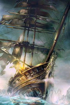 Image detail for -pirate ship iphone wallpaper tweet cartoons paintings pirate ship