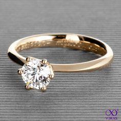 Yorxs No. 7 in gold #Yorxs #Diamantring #Verlobungsring #Goldring