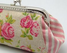 Sakura Small clutch / Coin purse S-291 R1 by EasternLife on Etsy