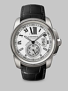 Cartier - Calibre de Cartier Stainless Steel Watch on Alligator Strap