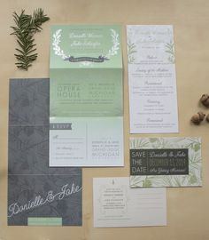 Donielle + Jake's Winter Wedding Stationery  Designed by Two if by Sea Studios