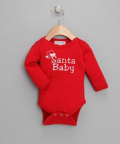 Take a look at this Red 'Santa Baby' Bodysuit - Infant by Little Diva on #zulily today!