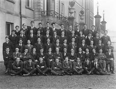 December 2, 1923  A group of students from Mallow pictured at De La Salle College, Waterford. Many of the young Corkmen are wearing the Fáinne rings and/or Pioneer badges on their lapels, showing that they speak Irish (enthusiastically) and abstain from alcohol.