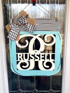 A personal favorite from my Etsy shop https://www.etsy.com/listing/516085111/mason-jar-door-hanger-mason-jar-decor