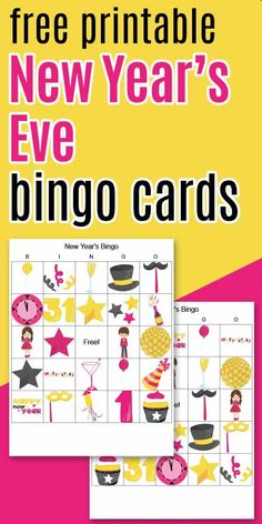 Keep your kids busy until midnight with this free printable New Year's bingo! Printable New Year's Eve picture bingo boards. Free Printable Bingo Cards, Printable Planner, Free Printables, Christmas Bingo Game, Halloween Bingo, New Years Eve Pictures, Bingo Board, Free Christmas Printables, New Years Party