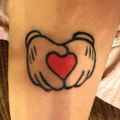 mickey hands tattoo......do minnie instead with Ezmees name in the heart