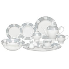 57-Piece Domus Porcelain Dinnerware Set