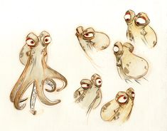cartoon expression for cephalopods. :-)