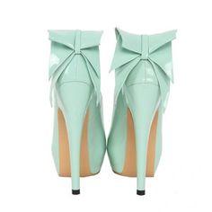 Refreshing Little Green Platform Stiletto Heels